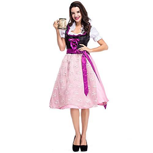 Bmeigo Damen Halloween Kostüme Cosplay Fancy Kleider Hexe Oktoberfest Bavarian Performance Party Kleidung