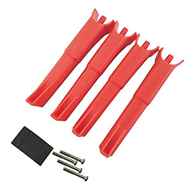 MagiDeal 4 Pieces RC Drone Aircraft Landing Gear Undercarriage for MJX B2C B2W Bugs 2 Spare Parts Red