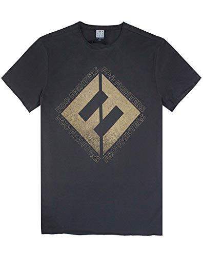 Official amplified foo fighters calcestruzzo e oro t-shirt uomo