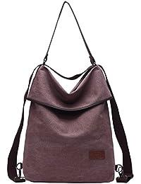 Travistar Damen Rucksack Canvas Schultertasche Handtasche – Damen Multifunktionsbeutel für Arbeit, Schule und Lässige täglich