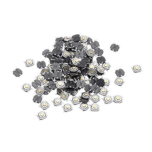 GIlH 100Pcs 4x4x1.5MM Tact Tactile Push Button Momentary SMD Surface Mount Switch - Surface Mount-button