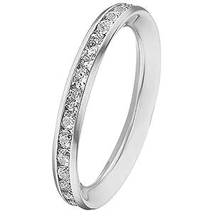 CHRIST Gold Damen-Ring 375er Weißgold Zirkonia (silber)