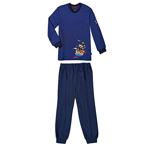 Schiesser Jungen Zweiteiliger Schlafanzug Anzug Lang, (blau 800), (Herstellergröße: 116)