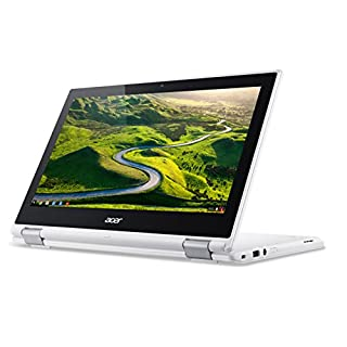 Acer Chromebook R11 CB5-132T - (Intel Celeron N3060, 4GB RAM, 32GB eMMC, 11.6 inch HD Touchscreen Display, Google Chrome OS, White)