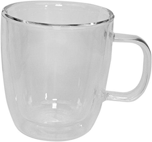 Tee-Kaffee Becher mit Henkel, doppelwandig Glas. Durchsichtig im Traditionellen Stil. (Einzel)