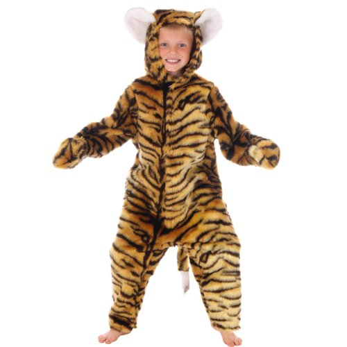 Fancy Jungle Dress Kostüm Book - DELUXE TIGER FUR WILD JUNGLE ANIMAL DRESSING UP COSTUME - KIDS FANCY DRESS BOOK