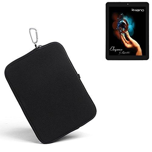 K-S-Trade® für Kiano Elegance 8 3G Neopren Hülle Schutzhülle Neoprenhülle Tablethülle Tabletcase Tablet Schutz Gürtel Tasche Case Sleeve Business schwarz für Kiano Elegance 8 3G
