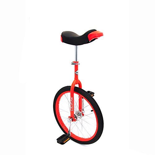 Indy Trainer Kids 'Einrad rot, 50,8cm Zoll Stahl Rahmen, 1Speed Abgerundete Pedale aus Kunststoff ergonomisch Geformte ()