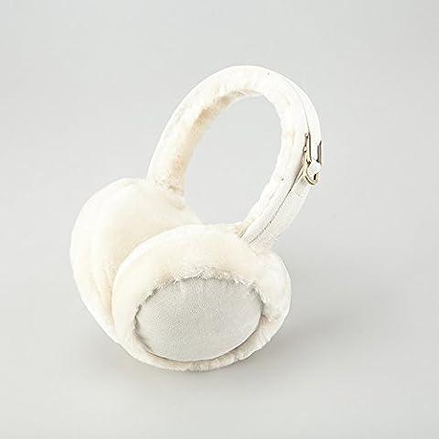 XMQC*Gli uomini e le donne calde auricolari pieghevoli Insiemi di inverno cappucci in pelliccia 1 coppie Clip orecchio orecchio orecchio licenze per pacchetti , m giallo