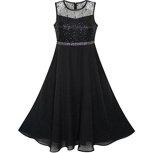 Girls Dress Rhinestone Chiffon Bridesmaid Dance Ball Maxi Gown Age 6-14 Years