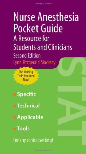 Nurse Anesthesia Pocket Guide: A Resource for Students and Clinicians by Lynn Fitzgerald Macksey (2009-03-29)