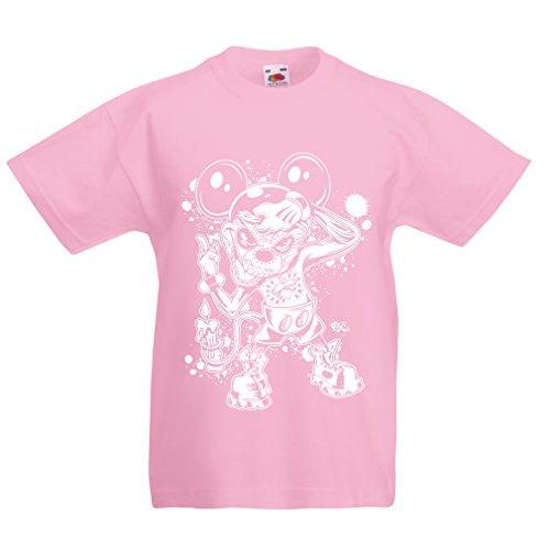 lepni.me Kinder Jungen/Mädchen T-Shirt Eine Maus mit Einem tollen Halloween-Party-Kostüm (3-4 Years Pink Mehrfarben)