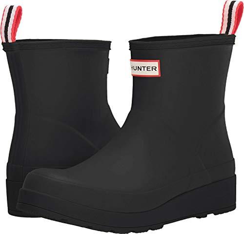 Hunter Original Play Short Wellington Boots, 39 EU, Schwarz - Weiß - Rot -