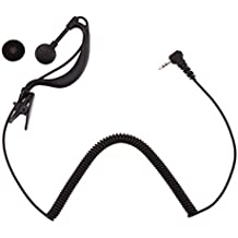 Amazingdeal365 2.5mm G-gancho auricular auricular 1 pin para Motorola GP2000 ICOM IC-U16