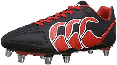 Canterbury Men's Stampede Club 8 Stud Rugby Boots, Black (01 Noir Rouge Blanc), 6 UK