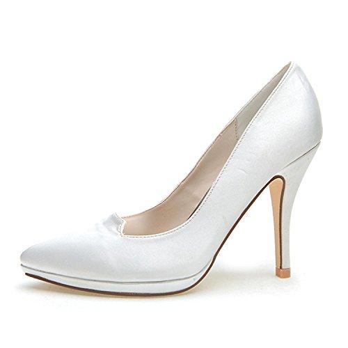 L @ yc Talons Hauts Pour Femmes Indiqués Printemps / Automne Stretch Wedding / Party & Soirée En Soie Blanc