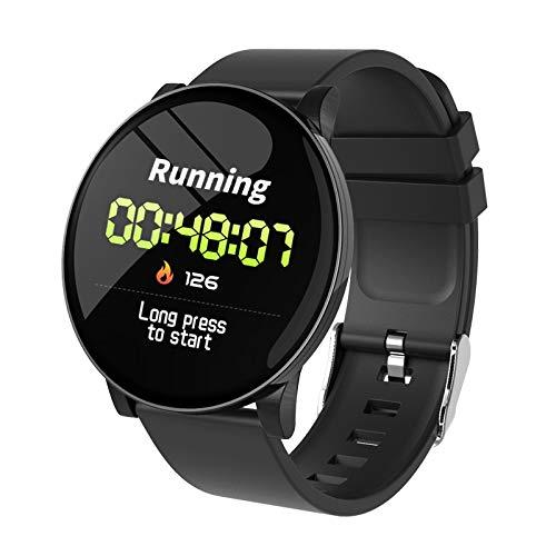 Grizack Smartwatch mit Herzfrequenz-Monitor, Wettervorhersage, Fitnessband, wasserdicht, Bluetooth Smart Rubber Strap schwarz (Ruhe-herzfrequenz-monitor Der)