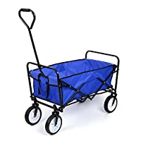 EAZYGOODS Folding Garden Trolley Cart, Polyester/Steel Frame, Blue, 87 x 55 x 113 cm