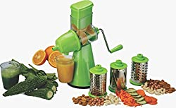 OLYPEX Fruit & Vegetable Manual Hand Juicer Mixer Grinder With Steel Handle / Quality Fruit And Vegetable Juicer With Handle / All In One /All Purpose ,Fastest, Safest and Easiest Way To Extract Fruits/ Vegetables Juices(Green)