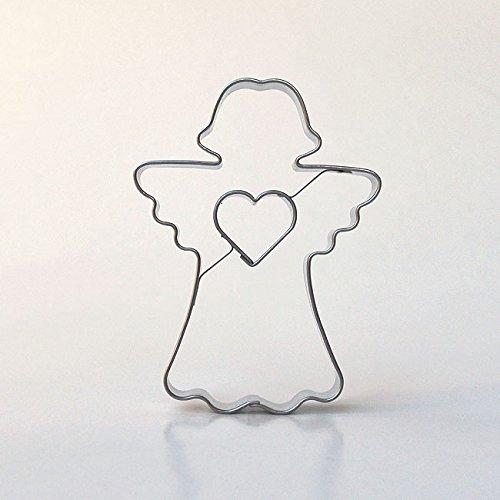 Engel mit Herz 7,5 cm Edelstahl Ausstecher Ausstechform Keksausstecher