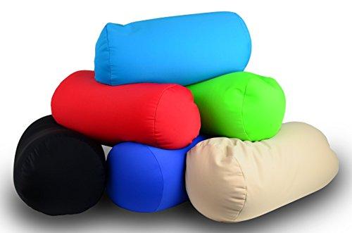 Comfort Pillow BLAU, Nackenkissen, Nackenrolle, Nackenstütze, Kissenrolle Relaxkissen, Anti-Stress-Kissen, super soft, optimale Größe: 36 cm x 20 cm Ø, 315 g -