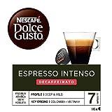 Nescafé Dolce Gusto - Espresso Intenso Descafeinado - 3 Paquetes de 16 Cápsulas - Total: 48...