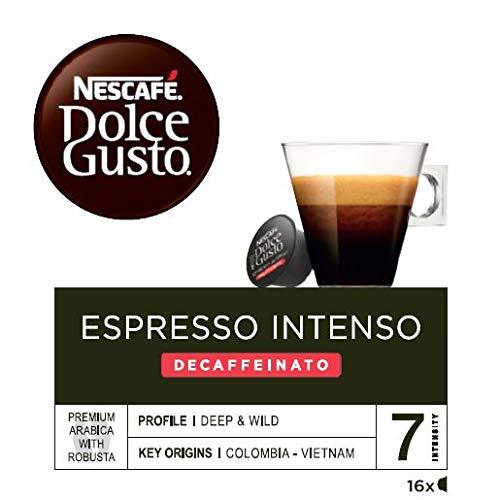 NESCAFÉ Dolce Gusto Café Espresso Intenso Descafeinado, Pack de 3 x 16 Cápsulas - Total: 48...