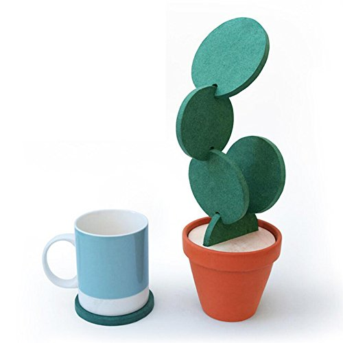 1pc Waterproof Cactus Flamingo Office Computer Desk Mat Table Coaster Placement For Mug Cup Home Decoration Desk Set Accessories Office & School Supplies