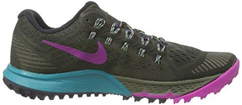 Nike Air Zoom Terra Kiger 3, Chaussures de Running Entrainement Femme Gris (cargo Khaki/voltage Green/radiant Emerald)