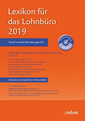 Lexikon für das Lohnbüro 2019 (E-Book PDF): Arbeitslohn ...