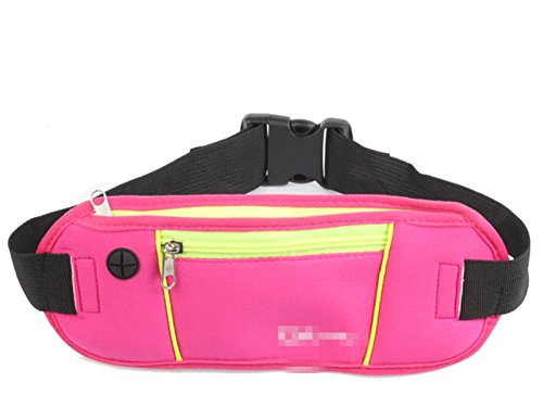 GXYLLDS Waist Pack Sport Running Fitness Viajes Música Impermeable Seguridad Noche Reflectante Bolsa De Teléfono Móvil Hombres Y Mujeres Correa Para Correr,Violet-OneSize