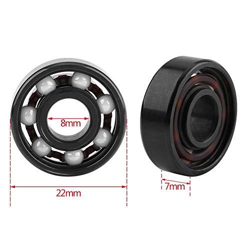 608 Miniatur Kugellager, Hybrid Lager Stahl Keramik Lager, 8 * 22 *   7mm High-Speed   Fingertip Spielzeug Spinner Skateboard Kugellager
