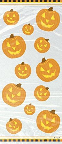 20 Halloween Kürbis-Zellophantüten