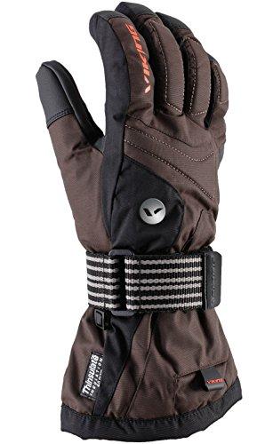 Viking Snowboardhandschuhe Handschuhe Winter Damen und Herren - mit Protektoren - atmungsaktiv - sehr robust - Pendragon, 54, braun, 8