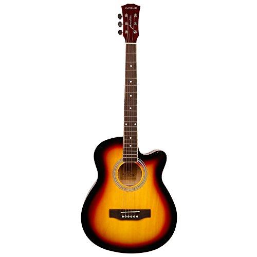 1. Kadence Frontier Series, Sunburst Acoustic Guitar