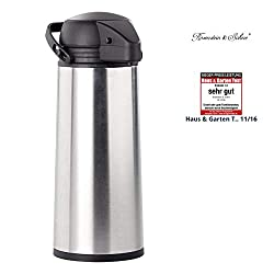 Rosenstein & Söhne Stainless Steel Pump Pot Vacuum Jug Garden, Lawn, Maintenance