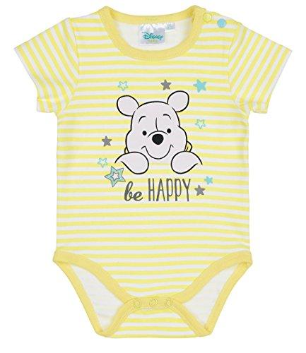 Disney winnie the pooh babies boys body neonato - giallo - 6m