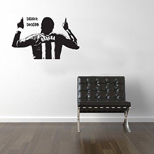 Chelsea Legende (Drogba Fußball-Legenden Wandtattoo Vinyl Transfer Aufkleber 950x 600mm)