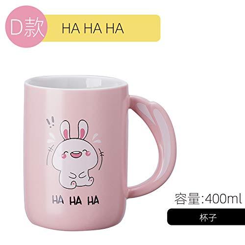 Keramiktasse mit Deckel Löffel paar Trinkbecher Haushalt Kaffeetasse Männer und Frauen Teetasse süße Tasse