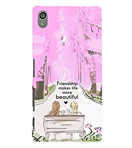 Print Masti Designer Back Case Cover for Sony Xperia Z5 Premium :: Sony Xperia Z5 4K Premium Dual (Girl Boy Friend Beautiful Relation )