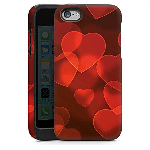 Apple iPhone 5 Housse étui coque protection C½ur affaibli Motif Motif Cas Tough brillant