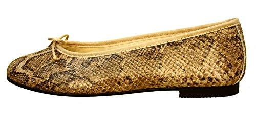 Ballerinas Kairo Python Beige Python / Beige