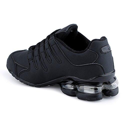 Calzature Uomo Donna Sneaker Scarpe Sportive Running Leisure Neon Runners Fitness Scarpe Basse Unisex Black-w