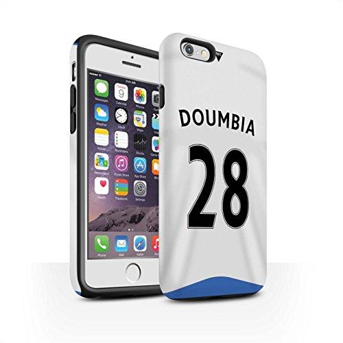 Offiziell Newcastle United FC Hülle / Matte Harten Stoßfest Case für Apple iPhone 6S / Pack 29pcs Muster / NUFC Trikot Home 15/16 Kollektion Doumbia