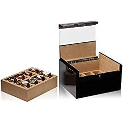 Modalo Imperia Uhrenboxen für 16 Uhren in carbon 701682