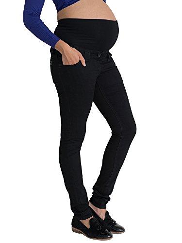 Black Skinny Maternity Jeans: Over the Bump, Sizes 8 - 22, (Available in 3 leg lengths), Pregnancy Slim Denims