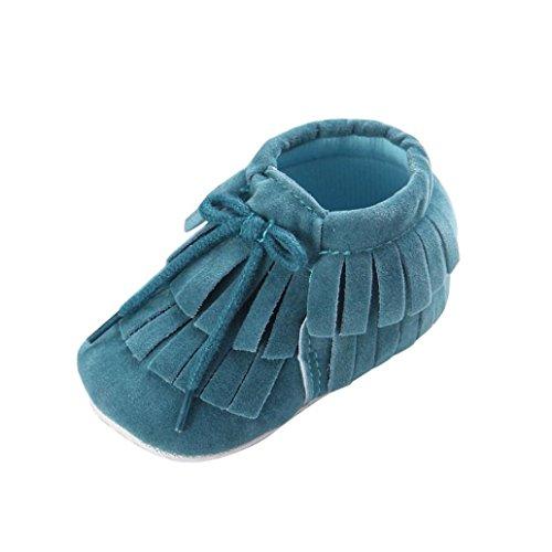 Clode® Bébés filles garçons Tassel douce Sole Prewalker Chaussures (12~18mois, G) G