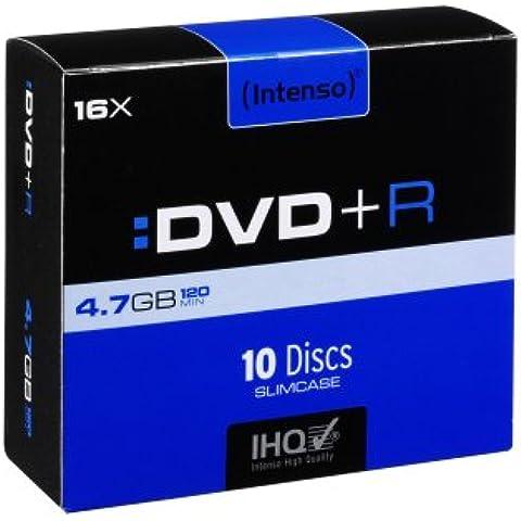Intenso DVD+R 4.7 GB 16x - DVD+RW vírgenes (DVD+R, Caja de cd)