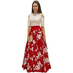 Suppar Sleave Women's fancy lehanga choli SSEM.107 Aarohi Red