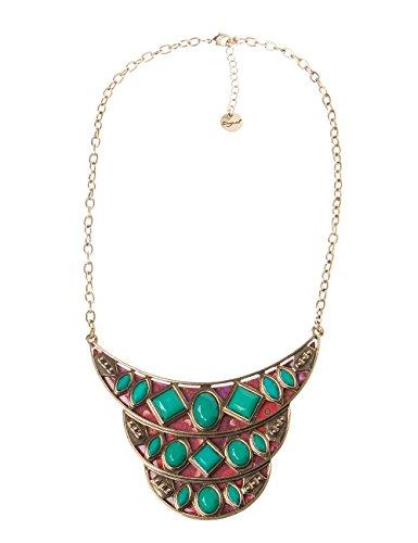 Desigual Damen Halskette 48G57214051U (Sonnes Sonne Grün Leben)